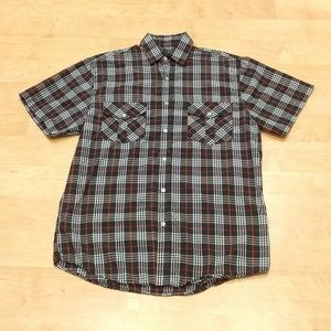 Vertical Sport Other - Plaid Short Sleeve Button Down