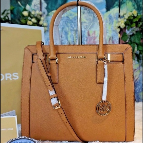 166a30cedeae Michael Kors Bags | Nwt Mk Dillon Tz Large Ns Leather Satchel Acorn ...