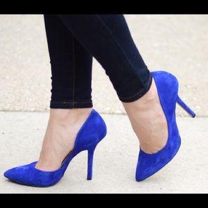 BCBG Shoes - BCBG Cobalt Blue D'orsay Heels