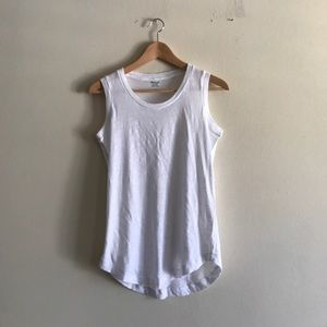 Madewell Whisper Cotton Crewneck Tank in White