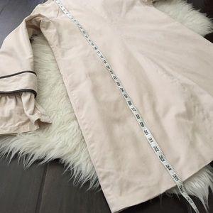 BB Dakota Jackets & Coats - BB Dakota tan black ruffle trench coat. BB Dakota
