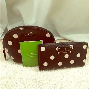 Kate Spade ♠️ Wellesley polka dot set