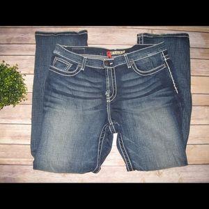 BKE Denim - BKE Drew Boot Distressed Thick Stitch Jeans