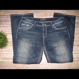 Silver Jeans Denim - Silver Suki Distressed Thick Stitch Jeans