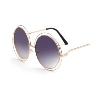 HP Large Round Lens Vintage Style Sunnies Gold