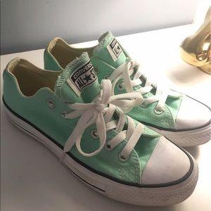 Mint Green Converse All Stars size 7