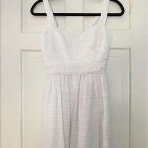Max & Cleo White Cotton Dress