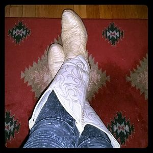 Dan Post Shoes - Dan Post Snake Skin Cowboy Boots 6.5