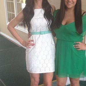 Sugarlips Dresses & Skirts - white dress - optional teal belt