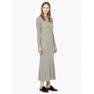 Mango Dresses & Skirts - Mango Casual Gray Long Sleeve Ribbed Dress