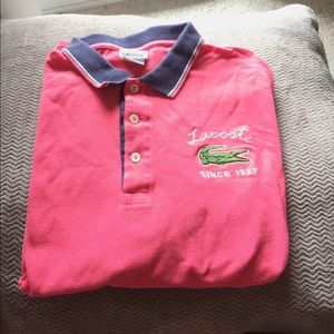 Lacoste Other - Coral and Navy Lacoste Polo