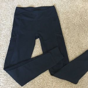 Awesome workout leggings with mesh netting sides.
