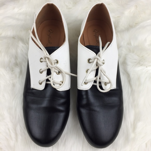 Qupid Black Oxford Shoes