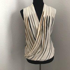 Diane Von Furstenberg Tops - Diane Von Furstenberg 100% Silk crossover Blouse