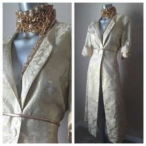 "Ashro Jackets & Blazers - ""Shabby Chic"" Embroidered Vintage Trench"