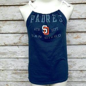 aa722c9b3d Tops - San Diego Padres Navy Baseball T Shirt handmade