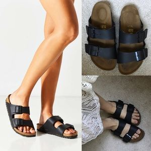 Birkenstock Shoes - Birkenstock sandal slides Arizona mono black two