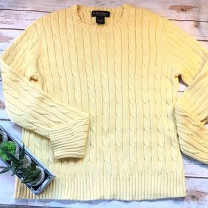 Brooks Brothers Sweaters - Brooks Brothers Yellow Crew Neck Sweater SZ L