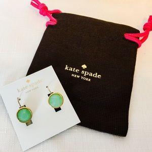 kate spade Jewelry - New Kate Spade 12K Crystal Drop Earrings in Mint!