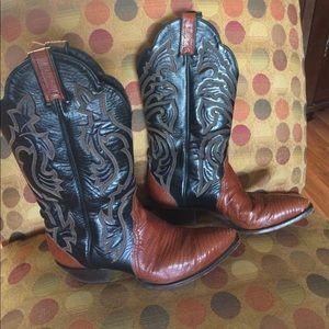 Tony Lama Shoes - Vintage Tony Lama two-tone cowboy boots