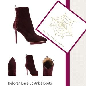 Charlotte Olympia Shoes - CHARLOTTE OLYMPIA Deborah Lace Up Ankle Boots