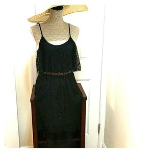NWT!  SEXY BLACK LACE ☀DRESS!!  SZ LG 7-9