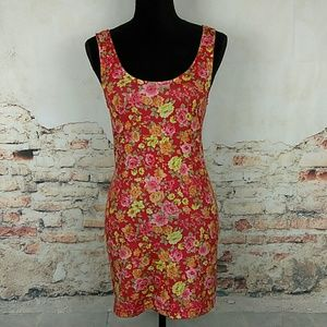 Intimately Free People Sz M Floral Bodycon Dress