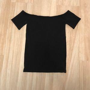 Modcloth Tops - Black Off the Shoulder Top