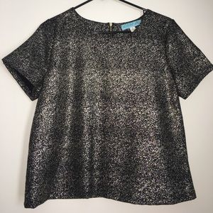 Aina Be Tops - Black & silver top