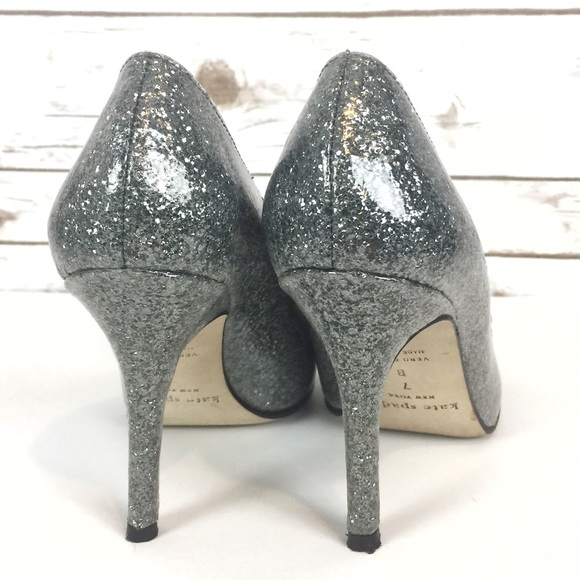 62% off kate spade Shoes - kate spade // silver glitter ...