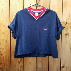 Tommy Hilfiger Tops - Vintage Tommy Hilfiger Navy Crop Top