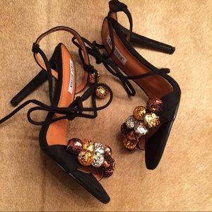 Cape Robbin Shoes - Cape Robbin Alza Sequin Pom Pom Sandal