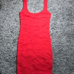 NWOT Red rose bodycon dress
