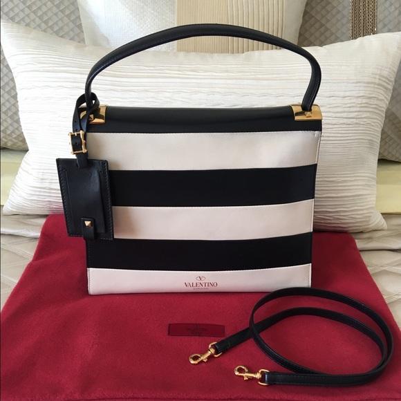 valentino handbag striped