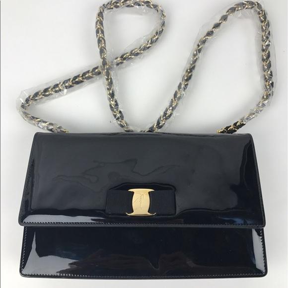 b55f199480 Salvatore Ferragamo Patent Leather Crossbody. M 594d92edfbf6f9615901b375