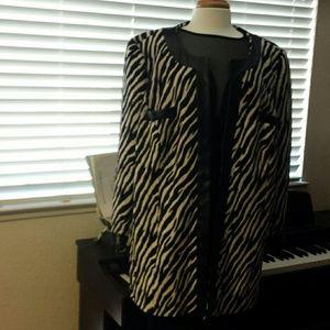 Midnight Velvet Jackets & Blazers - Zebra Print Jacket from Midnight Velvet. 22W