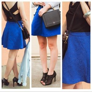 🌟HP🌟 textured skater midi skirt with pockets