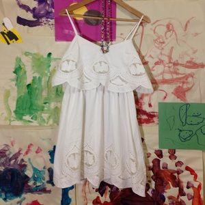 Sugarlips Dresses & Skirts - Sugarlips white embroidered boho layered dress s m