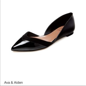 Ava & Aiden Shoes - Ava & Aiden Amali Pointed-Toe D'Orsay Patent Flat