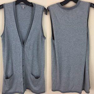 J. Jill Sweaters - J. Jill striped long tunic sweater cardigan vest