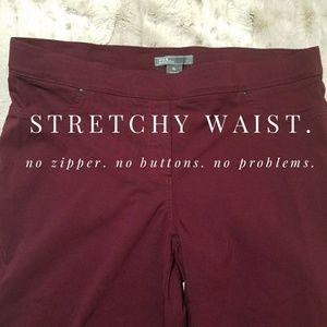 89th & Madison Pants - Stretchy pull-on, deep plum, ankle length slacks