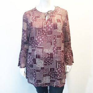 Apparenza Tops - Apparenza Bell Sleeve Tunic