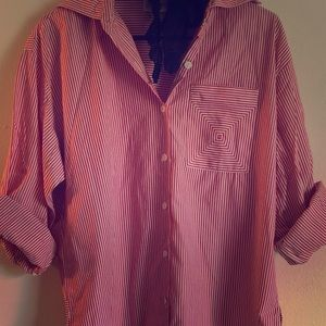 Other - Striped button up shirt