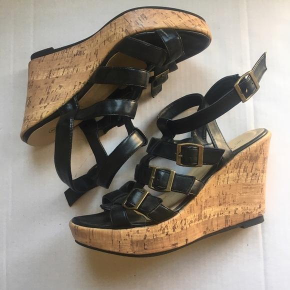 Vanity Shoes - Strapped Wedge Heels