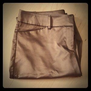 NEW YORK & COMPANY Brown Silk Work Pants