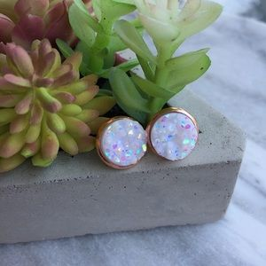 Simple Sanctuary Jewelry - 🌺COMING SOON🌺 Opal rose gold druzy earrings