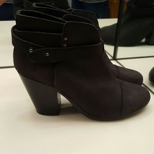 NEW RAG AND BONE HARROW  GRAY ASPHALT SUEDE BOOTIE