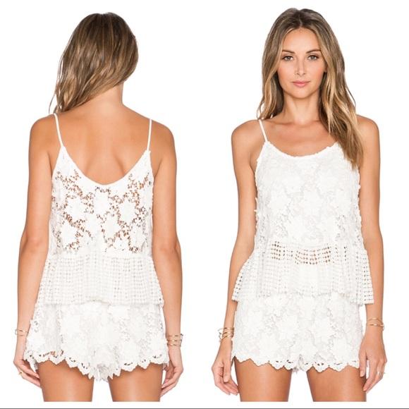 eb614dca Alexis Tops | Reza Dottedfloral Crochet White Top | Poshmark