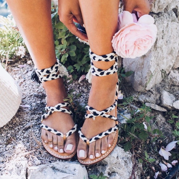 2ccc168fb6b2 Soludos braided gladiator lace up sandals
