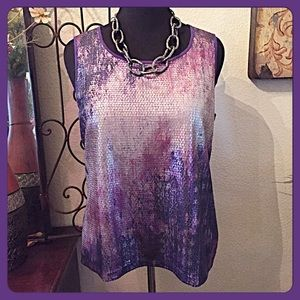 Chico's Tops - 30% OFF BUNDLES💐Chico's Sleeveless Sequined Top💐
